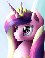 Royal Portrait - Princess Cadence (redo) by NiegelvonWolf