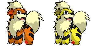 Pokemon #058 - Growlithe by Fyreglyphs