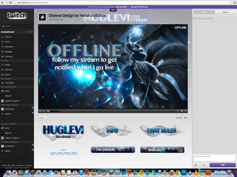 Twitch Channel Layout for Huglevi by ciael