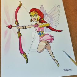 Flying Amazon by Melquizedec
