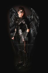 women leather armor dark angel by Lagueuse