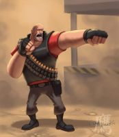 Heavy Weapons Guy by thelaserhawk