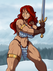 Red Sonja by Blazbaros
