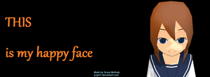 This Is My Happy Face Timeline Cover by g-girl1