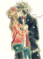 AT: Michiko and Coner :kiss me: by scarlet-glow