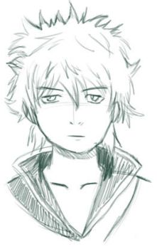Sketch - Gintoki by yuzudove