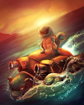 Squirtle Used Surf . by RebeccaFrank