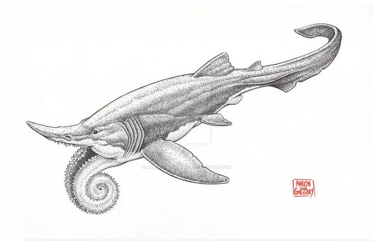 Old School Helicoprion by aaronjohngregory