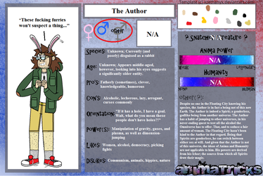 Animatricks OC Bio- The Author by MegaBLYSTONE