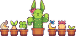 Plants and flowerpots by nicorachi