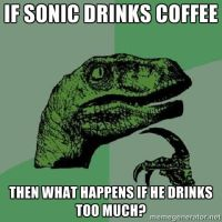 Philosoraptor: Sonic Coffee by lightyearpig