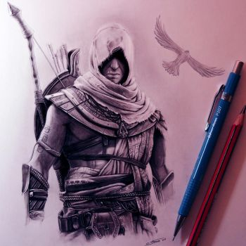 Assassin's Creed Origins Drawing by LethalChris
