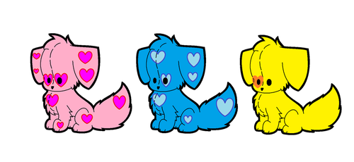 Puppy Adpotables (CLOSED) by DreamNotePrincess
