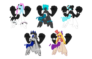 Anonyxis Adopts 2 CLOSED by MaiaSadoptsNstuff