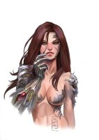 Witchblade Silvestri cover by calisto-lynn