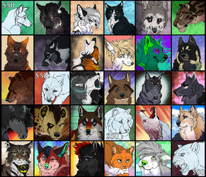 A Ton of Icon YCH's (Comms.) by SterlingKato
