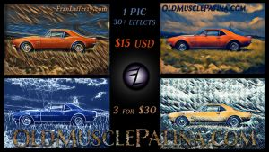 Car Art for Old Muscle lovers by mirroreyes1