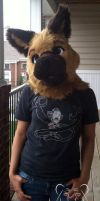 Commission - German Shepherd Fursuit Head by TigeroftheWinds