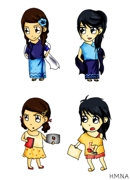 CDC Chibis 1 by HMNA