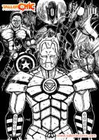VERY FAST DOODLE AVENGERS VERSION by mdayer