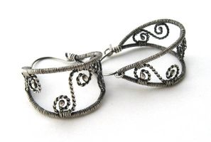 sterling silver empty hoops by annie-jewelry