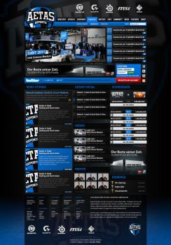 Aetas eSports Web Layout 2011 by aekro