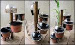 Steampunk Self-Watering Planter by MelodyAdenium