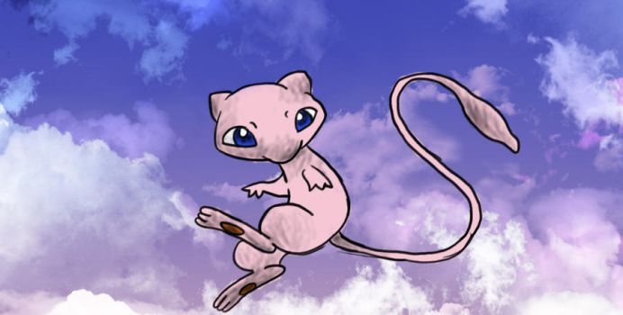 Mew in color by gogitolka