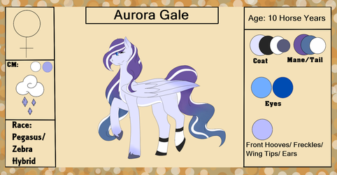Aurora Gale {Reference Sheet+ Bio} by ScarletsFeed