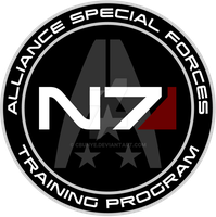 Mass Effect N7 Training Program Custom Logo by cbunye