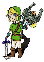 Link and Midna Chibis by zynwolf