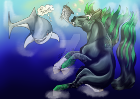 {Memorian Fishing Event} Hades and the Shark by slayingallhumans