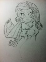 Quick Doodle-- EQG Rarity by trainbang