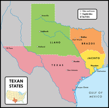 The Four Texas States by YNot1989