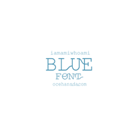 blue font by ocehans