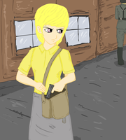 human Puppy Smiles in WW2 by glue123