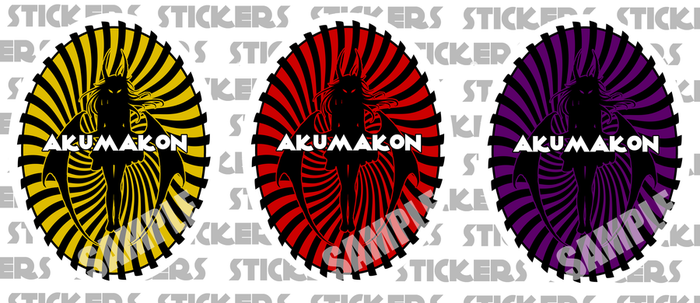 Akumakon 2013 Stickers by Bubblecat
