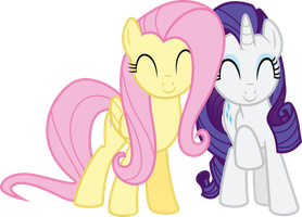 Fluttershy and Rarity Adorable by Jeatz-Axl