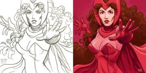 Daily Sketches Scarlet Witch by fedde