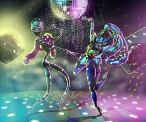 The fabulous glitter dance party by Leda456