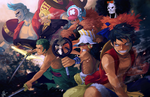 The Men of the Straw Hat Crew by einiv