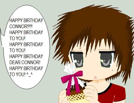 Happy Birthady Connor by sixtailedwolf