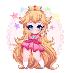 PRINCESS PEACH by BeauxYeux