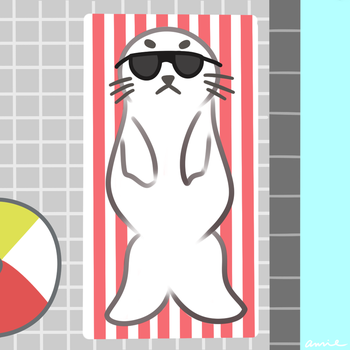 Seal with Sunglasses by cutie-karin