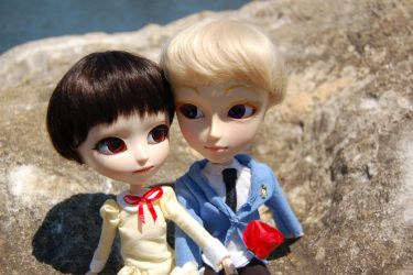 Custom Isul and Taeyang: Haruhi and Tamaki by AngelAndChangeling