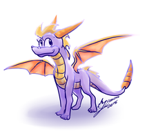 Spyro sketch by Feniiku