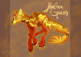 {Auction} Molten Gold Pawitzer (CLOSED) by BaraTomato