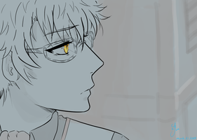 I know those eyes [707 - Mystic Messenger] by Six-0-6