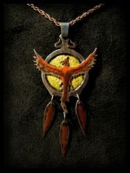 Phoenix Amulet by LaughingScarab