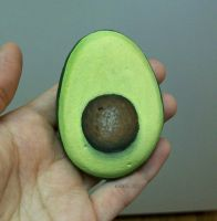 Painted avocado rock by TinyAna